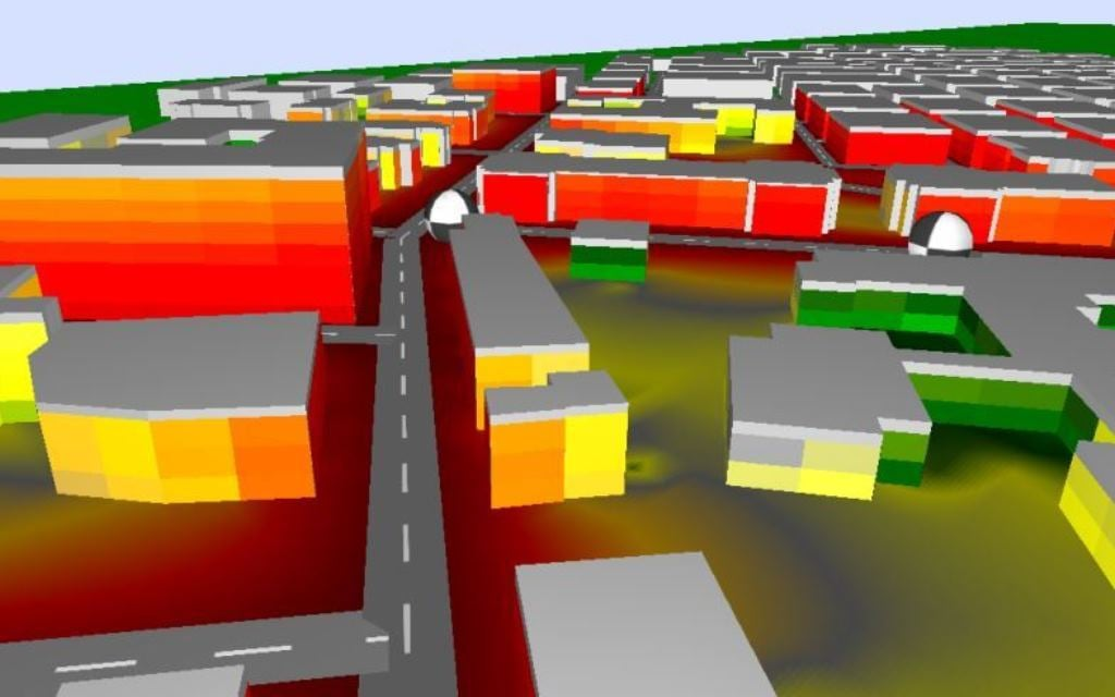 Simulaciones acústicas y de ruido - Mapas de simulación acústica- Empresa